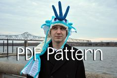 Crochet Gyarados Hat PATTERN Pokemon Inspired by HookingHavoc