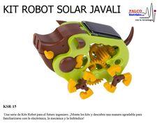KIT ROBOT SOLAR JAVALI Una serie de Kits Robot para el futuro ingeniero. ¡Monte los kits y descubra una manera agradable para  familiarizarse con la electrónica, la mecánica y la hidráulica! #productoPalco #kit #robot #educacional Bowser, Solar, Kit, Character, Wild Boar, Engineer, Future, Lettering, Sun