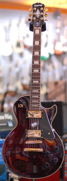 WINE RED epiphone les paul custom with flame maple top? - Les Paul Forums