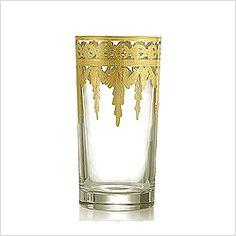 Arte Italica Vetro Gold Highball Glass