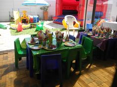 Barney party - with Toddler fun set.