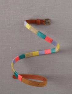 A new Bound Leather Belt that applies some serious attention to detail: brightly coloured threads bound on a soft leather for a touch of playful colour to pull your outfit together $28 - love this!