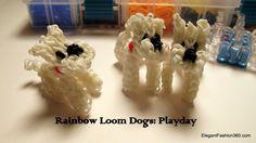 Rainbow Loom 3D Dog/Puppy Figure - Minecraft Wolf