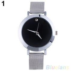 Women's Classic Casual Silver Tone Alloy Mesh Band Quartz Analog Wrist Watch 4KOC