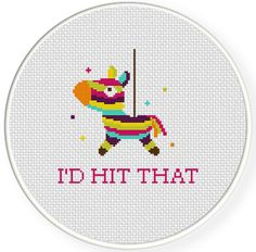 I_d Hit That PDF Cross Stitch Pattern by DailyCrossStitch on Etsy