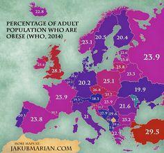Percentage of Obese People in Europe - OneEurope