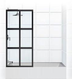 gridscape series factory windowpane shower screen for bathtub