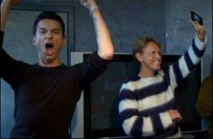 Dave Gahan and Martin Gore of Depeche Mode ❤