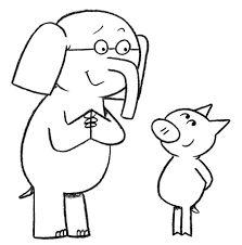 elephant and piggie coloring pages az sketch coloring page - Piggie And Elephant Coloring Pages