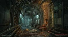 Sewer System, Mike Garn on ArtStation at… Metro 2033, Post Apocalypse, Fallout, Post Apocalyptic Art, Sewer System, Underground Cities, Environment Concept Art, Shadowrun, Fantasy Landscape