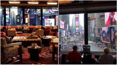*R Lounge at 2 Times Square is 26 stories above Times Square. This is THE place for people watching. It's probably the best and most chilled view of Times Square.