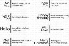 Side by Side Sentiments Stamp Set: Papertreyink