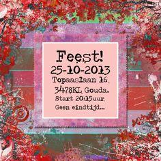 Feest colors plaats tekst en of foto - Uitnodigingen - Kaartje2go