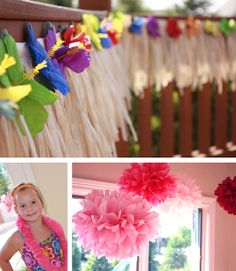 Luau birthday party: Lily is 6!