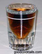"""Four Horsemen""  1/2 oz. Jack Daniel's® Tennessee Whiskey  1/2 oz. Jim Beam® Bourbon  1/2 oz. Jose Cuervo® Tequila  1/2 oz. Johnnie Walker® Scotch"