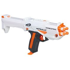 Nerf Alpha Trooper CS-18 Gun with Drum Magazine Yellow Orange Black