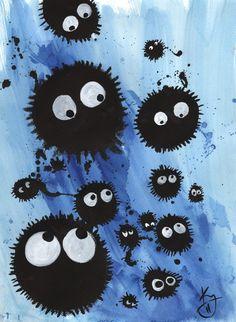 Totoro dust bunnies by TreeBeerdy.deviantart.com