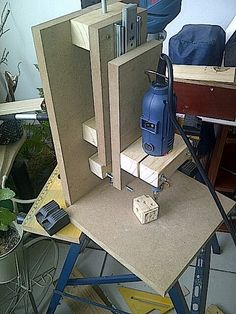 I was looking for an easy mini drill press for drilling PCB for example. So i went to the web to find that.I didn't found exactly what i wanted in DIY projects or shop so i built this :)This press is strong, accurate and not expensive !