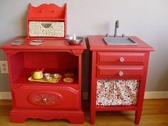 Kids Kitchen from bedside tables