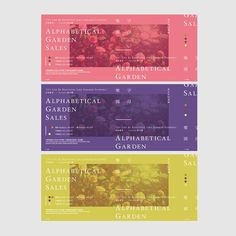 The colours work well for letting the tickets different from each other. Pinned by Elisa Righetto Poster Layout, Print Layout, Layout Design, Print Design, Editorial Layout, Editorial Design, Layout Inspiration, Graphic Design Inspiration, Leaflet Layout