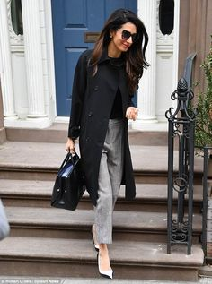 ec29e2b8765fa Amal Clooney is the picture of sophistication as she steps out in NYC