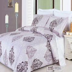 GoLinens Gizelle Duvet Cover Set with Reversible Pillow Shams – Fine Print Pattern, Combed Cotton – Durable Comforter Cover - 8 Piece, Queen Luxury Comforter Sets, King Comforter Sets, Comforter Cover, Bed Duvet Covers, Duvet Bedding, Queen Size Bedding, Duvet Sets, Pillow Shams, Queen Duvet