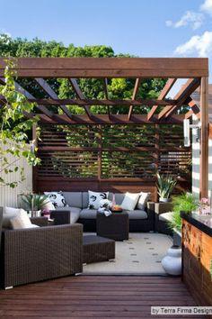 Petite Pergola, Small Pergola, Small Backyard Design, Modern Pergola, Pergola Attached To House, Outdoor Pergola, Small Backyard Landscaping, Backyard Pergola, Pergola Shade