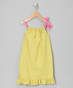 Take a look at this Green Polka Dot Swing Dress - Infant, Toddler & Girls by Lil'Daisies on #zulily today!