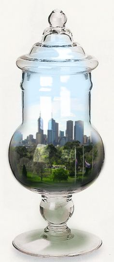 City in an apothecary jar