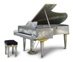 Swarovski Bosendorfer semi-concert grand piano which is located in Las Vegas and is the most expensive piano ever auctioned on ebay! It can be bought for $750,000USD and has 8000 swarovski crystals.