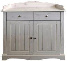 Steens Furniture 806 Steens Lotta Wickelkommode, 4 Schubladen, Kiefer, 107 x 99.6 x 70.5 cm, white wash