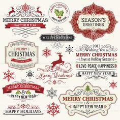Christmas Labels royalty-free stock vector art