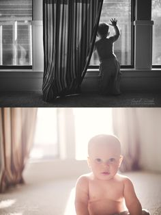 love this diptych by leah cook... two images taken in the same room with the same light.  Just goes to show that it really is all about the vision of the person  behind the lens... it's all a matter of the photographer's perspective.  <3