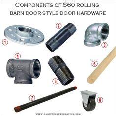 Componentes de hardware de bricolaje barata estilo puerta del granero de laminación