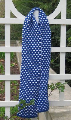 Free Knitting Pattern - Scarves: Block and Tackle Scarf BEGINNER
