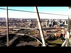 Observation Deck @ Reunion tower - YouTube Regency Hotel, Aerial Footage, Paris Skyline, Deck, Tower, Photo And Video, Places, Youtube, Travel