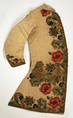 Waistcoat  Date: 1720–40  Culture: Italian (probably)  Medium: silk, metal