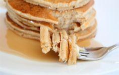 Vegan banana oatmeal pancakes...maybe substitute the whole wheat flour with almond flour?