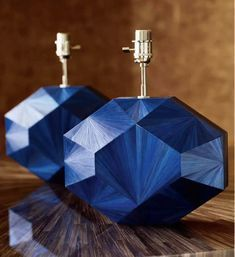 "Blue straw marquetry lamp ""Eloane"" Designed by Jallu, straw marquetry lamp, marqueterie de paille, interior design, super yacht interiors, luxury furniture, french craftsmanship, bespoke furniture, custom furniture, made in France, interior design inspiration"