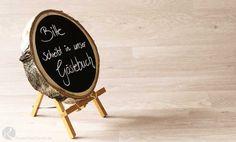 Anleitung, Hochzeit, Tischnamen, Tischnummern, Sitzordnung, DIY, selber machen, Basteln, rustikal, Holz, Spitze, verträumt, vintage, Holzscheibe Tafel, Tafelfolie