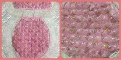 Jgo. de Baño en drapeado color rosa