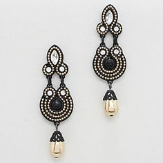 Nevelyn Chandelier Earrings in Ebony