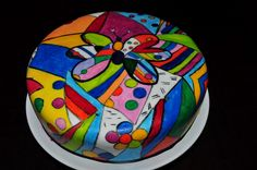 Romero Britto Tattoo Cake, Dessert Table, Art History, Bean Bag Chair, Tableware, Amazing, Crafts, Cup Cakes, Sweets