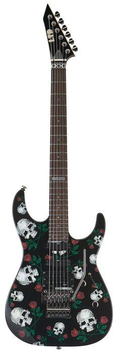 ESP LTD M-200 SR SKULLS-ROSES GRAPHIC ELECTRIC GUITAR #esp #espltd #guitar…