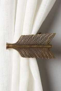 bow and arrow tieback Arrow Decor, Bow Arrows, My New Room, My Dream Home, Home Accents, Bedroom Decor, Bedroom Ideas, Nursery Ideas, Interior And Exterior