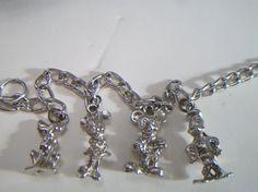 vintage Disney charm bracelet Mickey Mouse by ALEXLITTLETHINGS