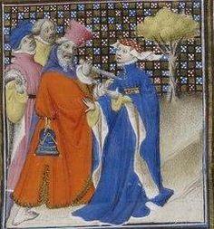 Giovanni Boccaccio, De Claris mulieribus; Paris Bibliothèque nationale de France MSS Français 598; French; 1403, 90r. http://www.europeanaregia.eu/en/manuscripts/paris-bibliotheque-nationale-france-mss-francais-598/en