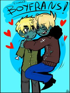 Hetalia- Zombie!UsUk....Is it weird I find this adorable? XD