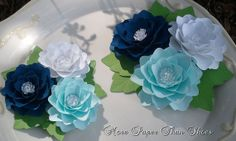 Paper Flower Centerpieces - #wedding #events #anniversary #birthday #paper #flower #centerpiece
