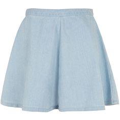 TOPSHOP MOTO Bleach Acid Swing Skirt ($24) ❤ liked on Polyvore featuring skirts, bottoms, saias, faldas, bleach stone, zipper skirt, acid wash skirt, topshop, flippy skirt and swing skirt